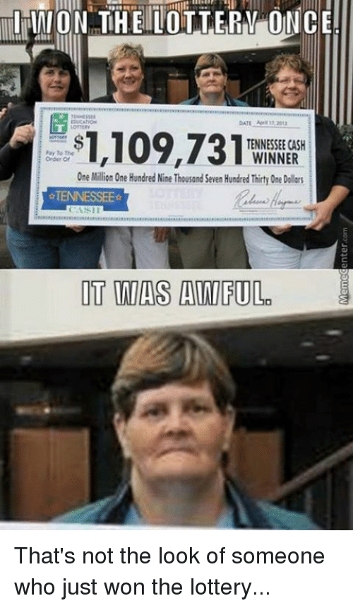 I just won million in lottery and here are the first 4