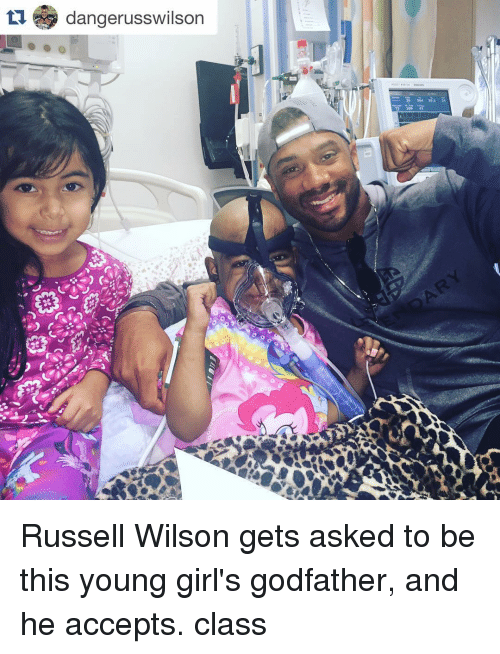 godfathers: tu dangerusswilson Russell Wilson gets asked to be this young girl's godfather, and he accepts. class