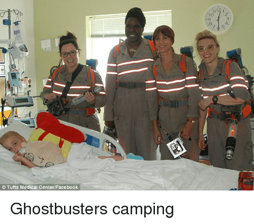 Im Going To Hell For This: Tufts Medical Center/Facebook  1112 1 Ghostbusters camping