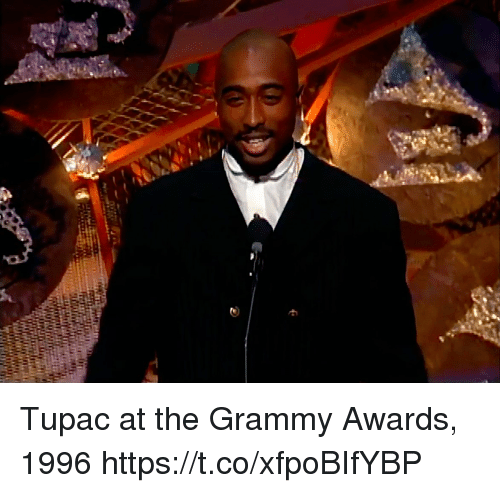 Grammy Awards: Tupac at the Grammy Awards, 1996 https://t.co/xfpoBIfYBP