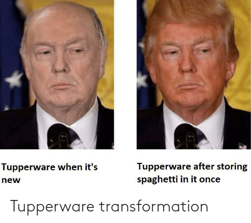 transformation: Tupperware transformation