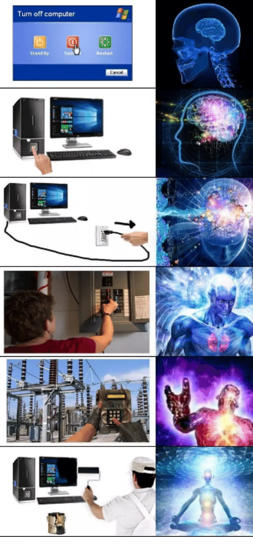 Memes, Computer, and 🤖: Turn off computer