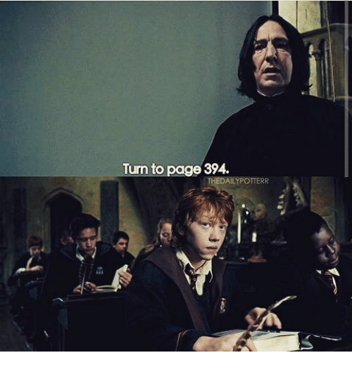Turn To Page 394 THEDAILYPOTTERR | Meme On SIZZLE