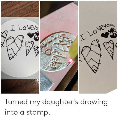 stamp: Turned my daughter's drawing into a stamp.
