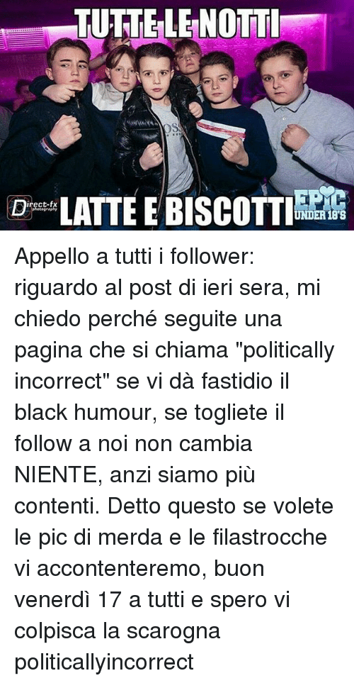 tuttelenotti d latte e biscotti under 18s appello a tutti 14564910 🔥 25 best memes about when does back to the future take place