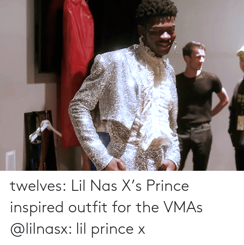 Prince: twelves: Lil Nas X's Prince inspired outfit for the VMAs @lilnasx: lil prince x
