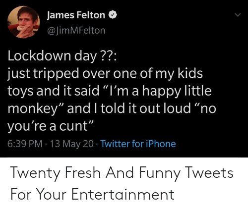 Fresh: Twenty Fresh And Funny Tweets For Your Entertainment
