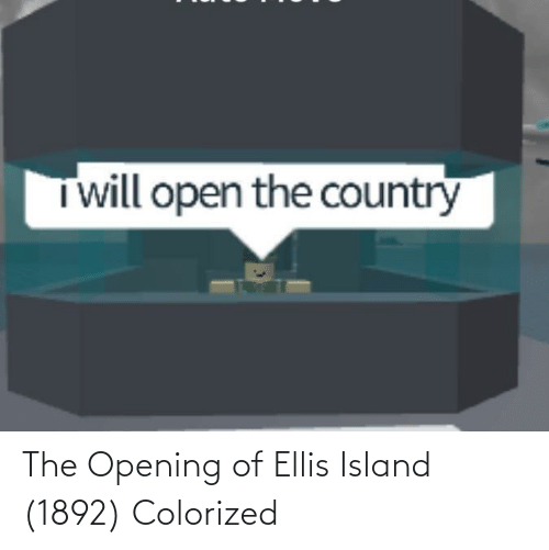ellis island: Twill open the country The Opening of Ellis Island (1892) Colorized