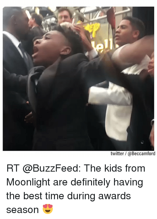 Buzzfees: twitter @Beccamford RT @BuzzFeed: The kids from Moonlight are definitely having the best time during awards season 😍