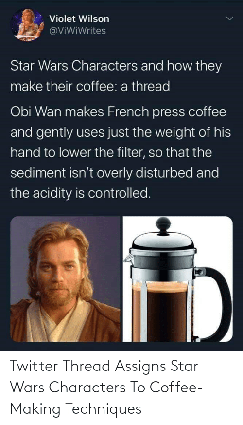 Star Wars: Twitter Thread Assigns Star Wars Characters To Coffee-Making Techniques