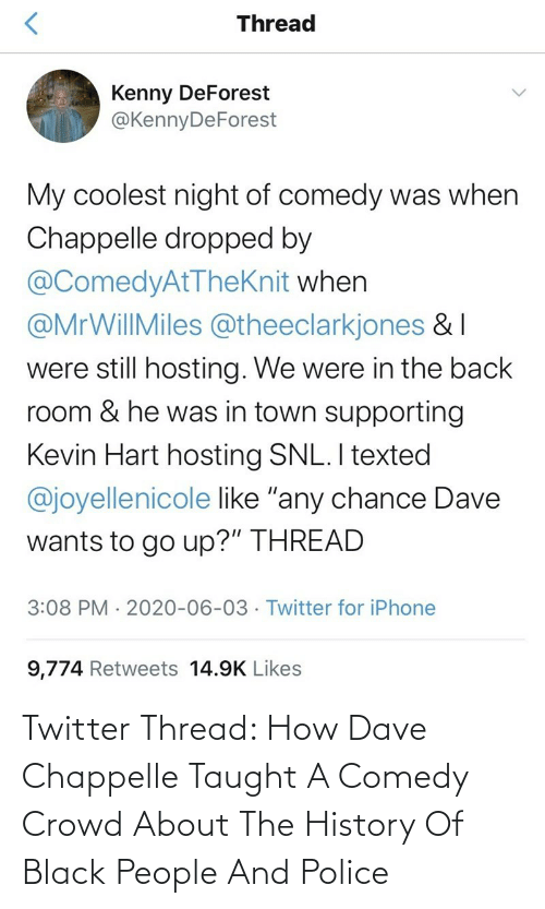crowd: Twitter Thread: How Dave Chappelle Taught A Comedy Crowd About The History Of Black People And Police