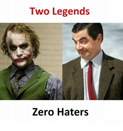 Zero, Legends, and Haters: Two Legends  Zero Haters