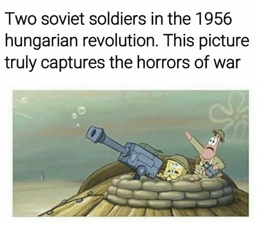 Soldiers, Pictures, and Revolution: Two soviet soldiers in the 1956  hungarian revolution. This picture  truly captures the horrors of war