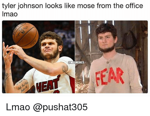 Lmao, Nba, and The Office: tyler johnson looks like mose from the office  lmao  NBAMEMES  ETFEAR Lmao @pushat305