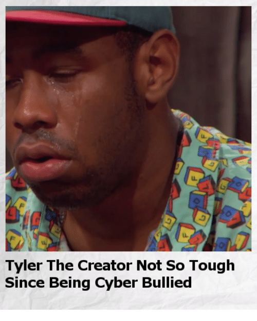 Tyler the Creator, Dank Memes, and Tough: Tyler The Creator Not so Tough  Since Being Cyber Bullied