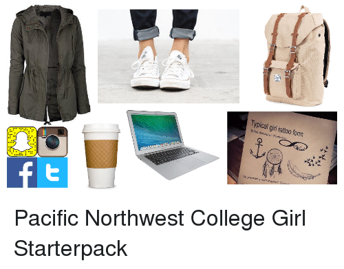 College Girls And Starter Packs Typical Girl Tattoo Form Descrpion Rcreeon Want