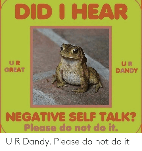 Please Do Not: U R Dandy. Please do not do it