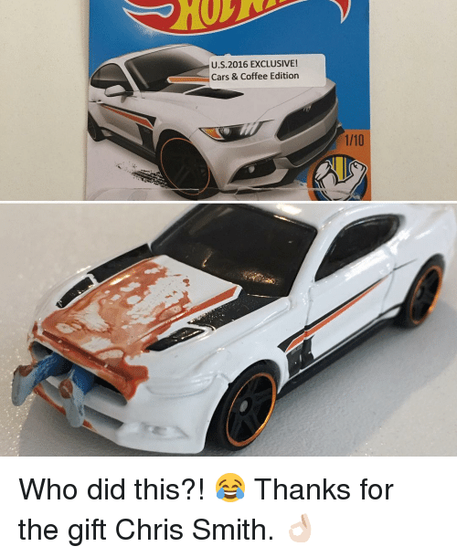 Memes, The Gift, and 🤖: U.S 2016 EXCLUSIVE!  Cars & Coffee Edition Who did this?! 😂 Thanks for the gift Chris Smith. 👌🏻