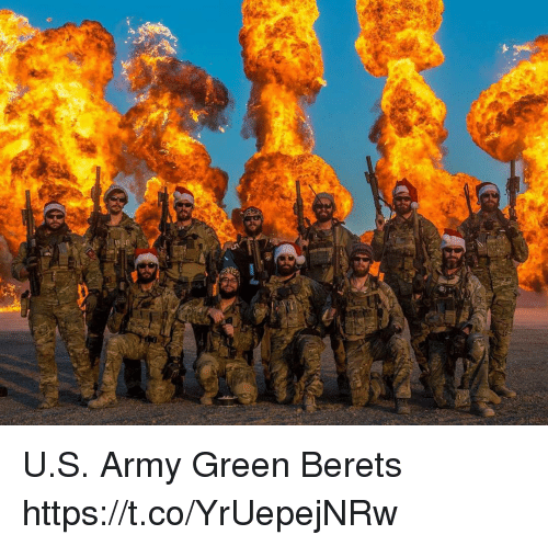 Memes, Army, and 🤖: U.S. Army Green Berets https://t.co/YrUepejNRw