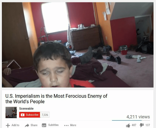 Ferocious: U.S. Imperialism is the Most Ferocious Enemy of  the World's People  Sceneable  Subscribe  4,211 views  Add to ShareSubtitles. More  14:87タ1137
