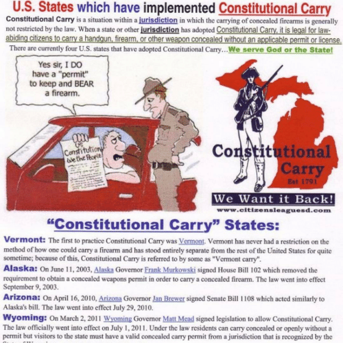 a discussion on the legalization of concealed weapons in the united states The us concealed carry association offers self-defense education, training, & legal protection for responsible gun owners learn more here.