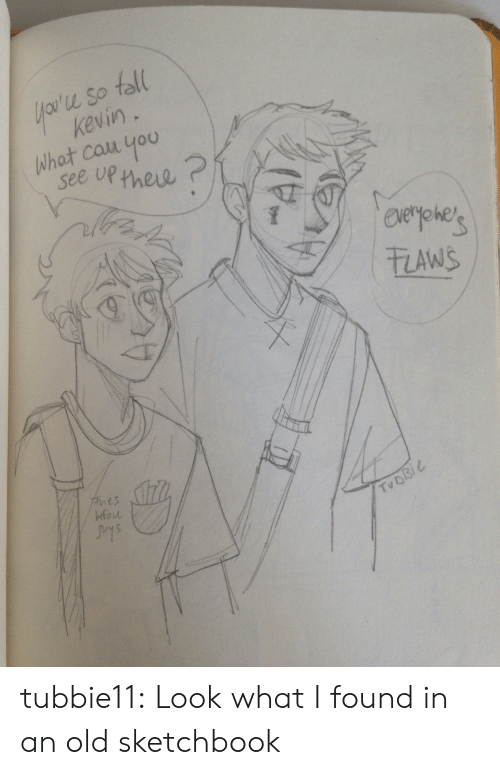 Look What I Found: u So toll  keviny  what couu you  see up new  zAwS  t s  fou  Tu D tubbie11:  Look what I found in an old sketchbook