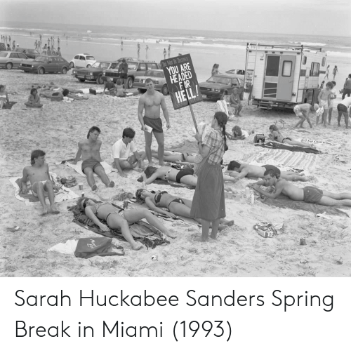 huckabee: UAFE Sarah Huckabee Sanders Spring Break in Miami (1993)