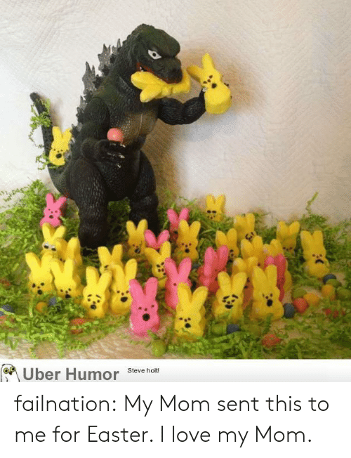 Love My Mom: Uber Humor Stave ha failnation:  My Mom sent this to me for Easter. I love my Mom.