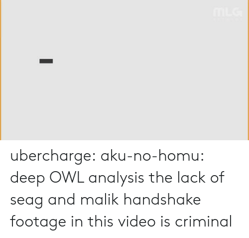 Hanzo: ubercharge: aku-no-homu: deep OWL analysis the lack of seag and malik handshake footage in this video is criminal