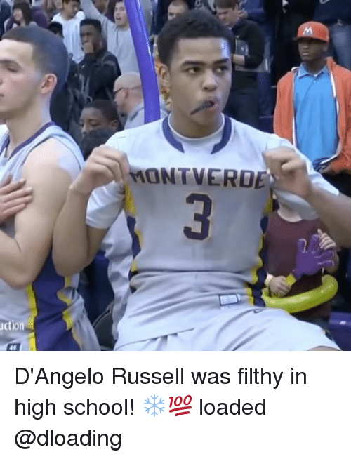 Memes, School, and d'Angelo Russell: uction  MON VERDE D'Angelo Russell was filthy in high school! ❄💯 loaded @dloading