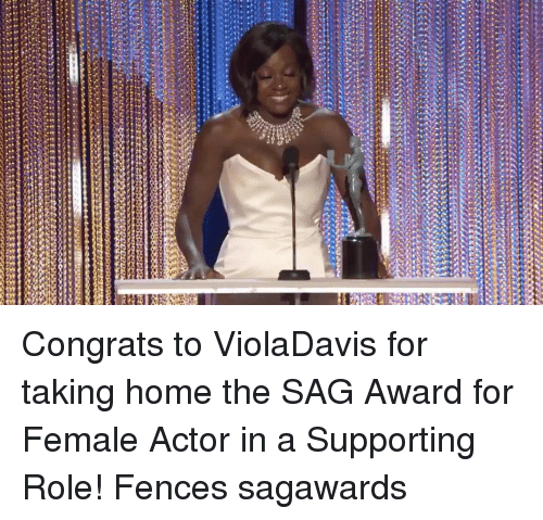 Uggly: ugg な  EE ttttttttec2:22ggggyy3  ssessa Congrats to ViolaDavis for taking home the SAG Award for Female Actor in a Supporting Role! Fences sagawards