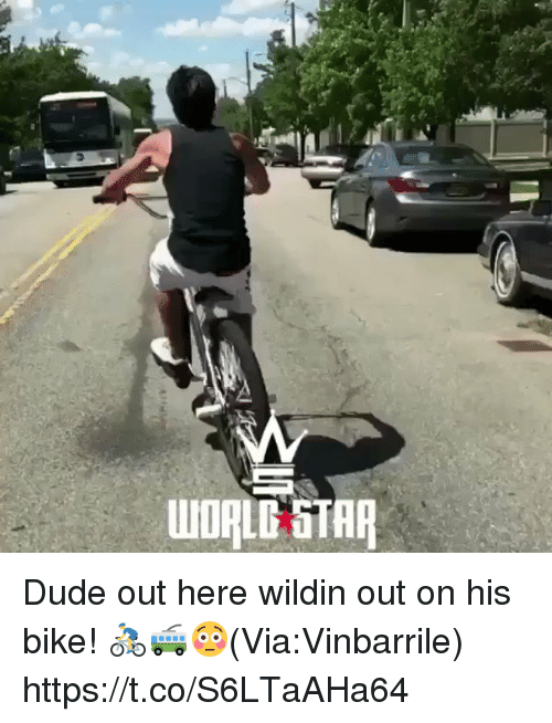 Dude, Star, and Wildin: UIORLG STAR Dude out here wildin out on his bike! 🚴🚎😳(Via:Vinbarrile) https://t.co/S6LTaAHa64