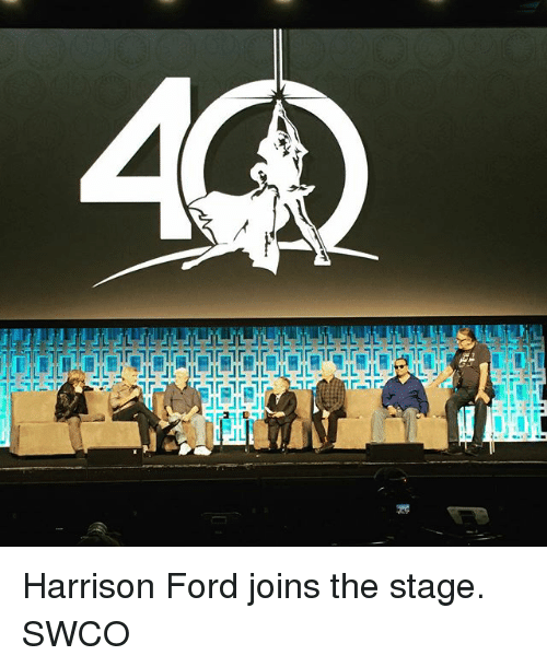 Fords: UL Harrison Ford joins the stage. SWCO