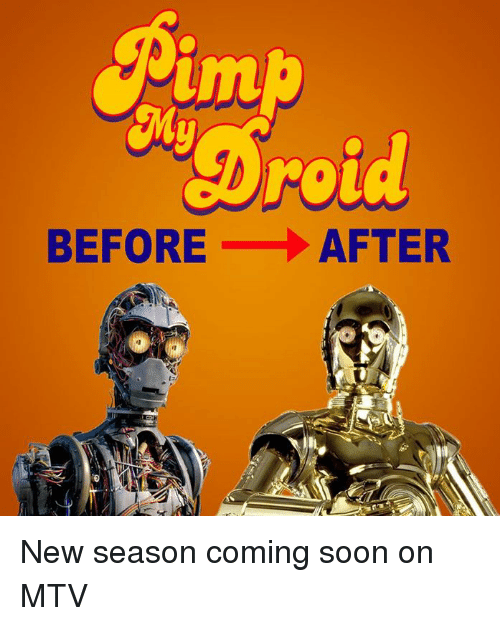 Mtv, Soon..., and Star Wars: um  roua  BEFORE AFTER New season coming soon on MTV