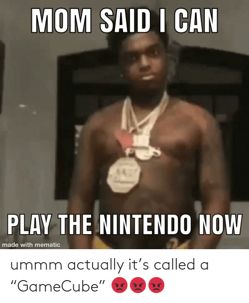 """Ummm: ummm actually it's called a """"GameCube"""" 😡😡😡"""