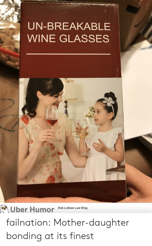 Mother Daughter: UN-BREAKABLE  WINE GLASSES  on  Uber Humor  Bob Loblaw Law Blog failnation:  Mother-daughter bonding at its finest