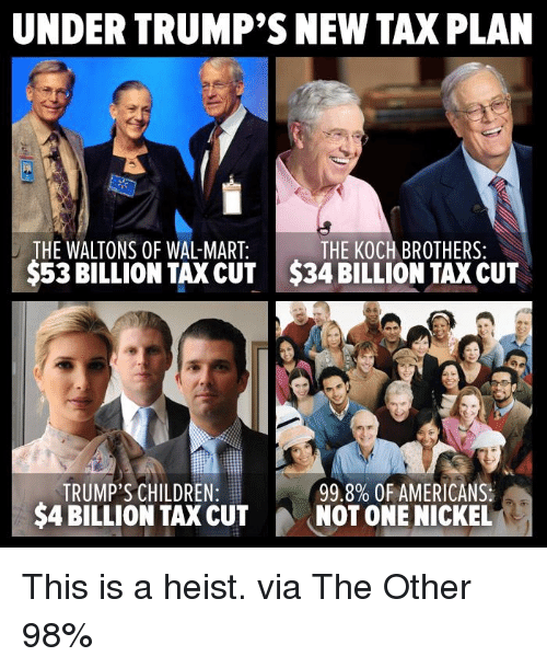 The Trump Tax Plan And National Priorities: UNDER TRUMP'S NEW TAXPLAN THE WALTONS OF WAL-MART THE KOCH