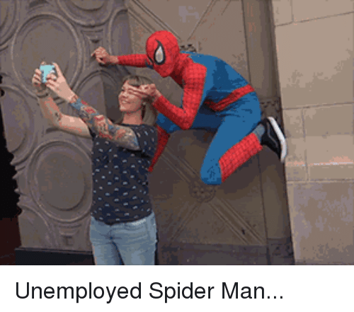 Funny, Spider, and SpiderMan: Unemployed Spider Man...
