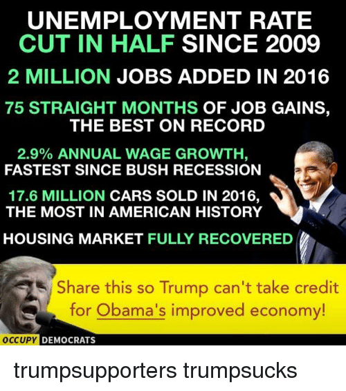 Trump Tax Cuts Job Growth: Funny Unemployment Rate Memes Of 2017 On SIZZLE