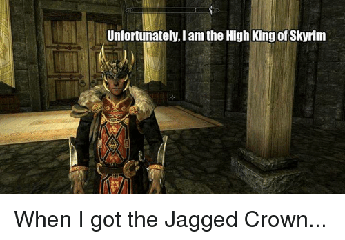 skyrim how to keep the jagged crown