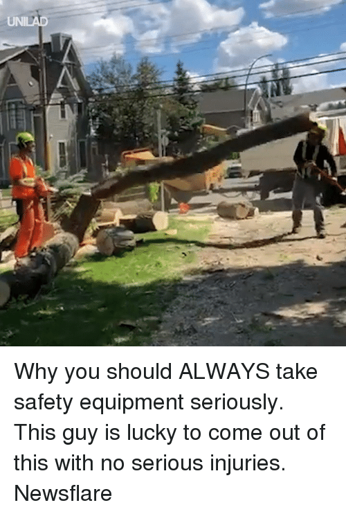 Dank, 🤖, and Why: UNILAD Why you should ALWAYS take safety equipment seriously. This guy is lucky to come out of this with no serious injuries.  Newsflare
