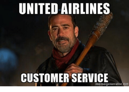 service: UNITED AIRLINES  CUSTOMER SERVICE  memegenerator net