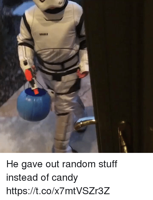 Candy, Funny, and Stuff: unuui He gave out random stuff instead of candy https://t.co/x7mtVSZr3Z