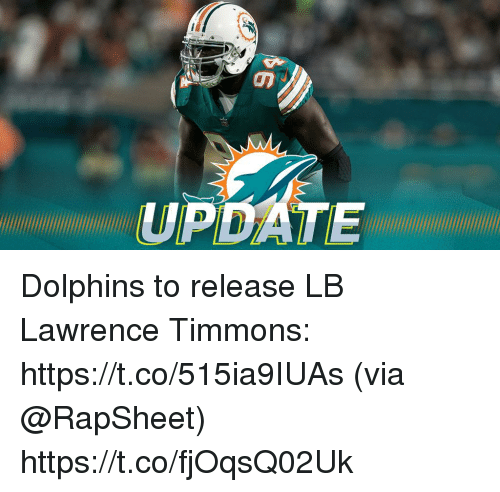 Memes, Dolphins, and 🤖: UPDATE Dolphins to release LB Lawrence Timmons: https://t.co/515ia9IUAs (via @RapSheet) https://t.co/fjOqsQ02Uk