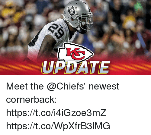 Memes, Chiefs, and 🤖: UPDATE000 Meet the @Chiefs' newest cornerback: https://t.co/i4iGzoe3mZ https://t.co/WpXfrB3lMG