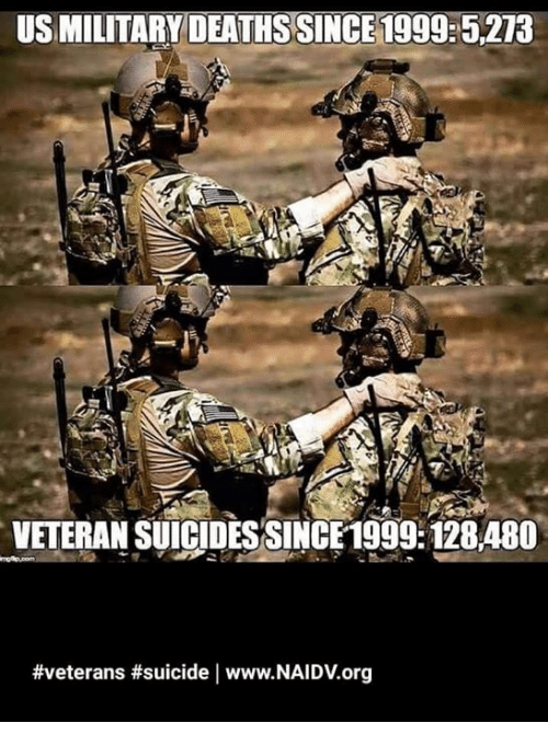 Memes, Suicide, and 🤖: US MILITARYDEATHS SINCE 1999:5.2T3  VETERAN SUIGIDESSINCE1999.128480  #veterans #suicide   www.NAIDV.org