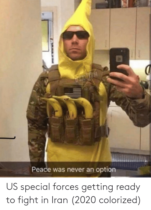 special forces: US special forces getting ready to fight in Iran (2020 colorized)