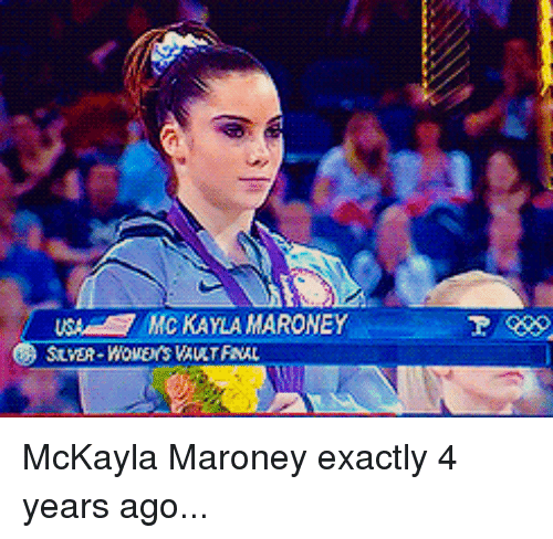 mckayla maroney: USA KAYLA MARONEY McKayla Maroney exactly 4 years ago...