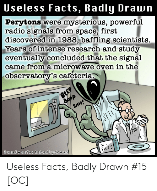 drawn: Useless Facts, Badly Drawn #15 [OC]