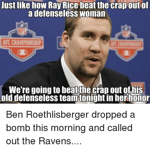 uustlike how ray rice beat the crap out of a 541804 🔥 25 best memes about ben roethlisberger, ray rice, nfl, and old